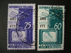 TRIESTE - AMGFTT. 1954, TELEVISIONE, Usato, TB - 7. Triest