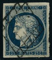 oblitéré N° 3, 3a, 4 et 4a, 2 nuances différentes du 20c et 25c Cérès, T.B.