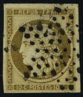 oblitéré N° 1a, 10c bistre brun obl étoile, T.B. signé Calves