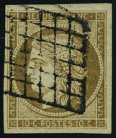 oblitéré N° 1a, 10 c bistre brun superbe, signé