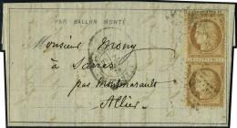 lettre Le Bayard, Dépêche Ballon Poste N° 18, départ rue d'Antin 20/12/70, 7ème...
