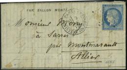 lettre Le Général Renault, dépêche Ballon N° 13, départ Paris...