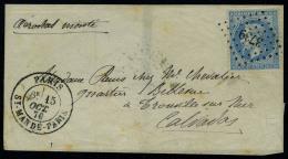 lettre Le Jean Bart N° 2, LMM mention aérostat monté, los PC 3739 et càd Paris St...