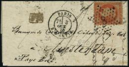 lettre L'Armand BARBES, pli au départ de Paris 3/10/70, étoile 8 pour Amsterdam Pays Bas, affranchi...
