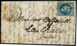 lettre VILLE DE FLORENCE. LSM. CàD R. Serpente 23 sept 70 Pour La Châtre. Arrivée le 23 oct 70....