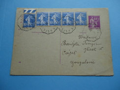 Postal Cards Were Sent From France To Osijek (Yugoslavia) In 1935. - France