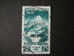 TRIESTE - AMGFTT. 1953, MONTAGNA, Usati, TB - Gebraucht