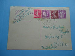 Postal Cards Were Sent From France To Osijek (Yugoslavia) In 1937. - France