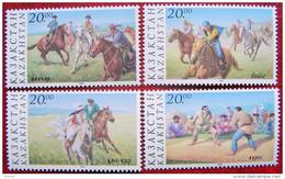 Kazakhstan  1997  National Sports . Horses.  4 V MNH - Kazakhstan