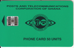 GHANA - Telecom Logo, Green Backround 50 Units, 10/96, Used - Ghana
