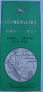 ITINÉRAIRE DANS L'OUEST DE L'AOF. DAKAR- ABIDJAN PAR LA GUINÉE - MALI-GUINÉE FRANÇAISE 1958. 60 PAGES AOF SITAOF AFRIQUE - Dépliants Touristiques