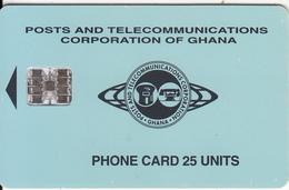 GHANA - Telecom Logo, Blue Backround 25 Units, 09/97, Used - Ghana