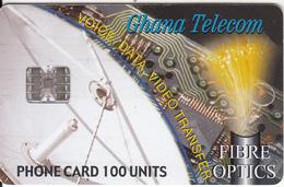 GHANA - Fibre Optics, Satellite Dish, 04/00, Used - Ghana