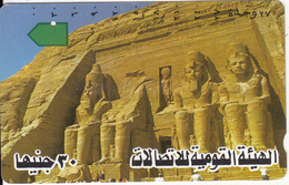 EGYPT(tamura) - Temple Of Abu Simbel(text 1), Used - Landschappen