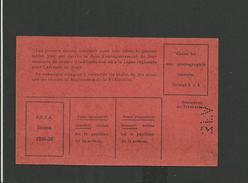 Licence Amateur Football 1935/1936 - Non Classés