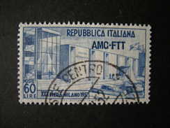 TRIESTE - AMGFTT. 1952, FIERA DI MILANO, Usato, TB - 7. Triest