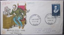 Enveloppe FDC 115 - 1955 - Caen - Malherbe - Ecrivain Poete - YT 1028 - France