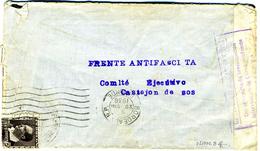 GUERRA CIVIL 1936 FRENTE ANTIFASCISTA  COMITE CASTEJON DE SOS  Hasta Bordeaux  Ref EL562