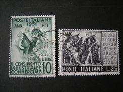 TRIESTE - AMGFTT. 1951, CENSIMENTO, Serie Cpl. Usata, TB - 7. Triest