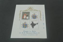 E1950-Bloc Golden Series N.31 -  Viaggio Di S.S. Giovanni Paolo II  In India - Popes