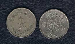 ARABIA SAUDITA - 10 Halala 1400   KM54 - Arabia Saudita
