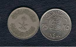 ARABIA SAUDITA - 25 Halala  1400  KM55 - Arabia Saudita