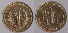 Etats De L'Afrique De L'Ouest 5 Francs XOF  CFA 2013 Origine Côte D'Ivoire - Ivory Coast