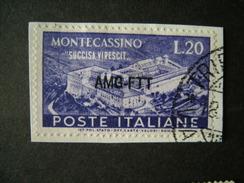 TRIESTE - AMGFTT. 1951, MONTECASSINO, Cent. 20, TB - Gebraucht