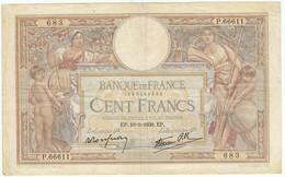 100 Francs Luc Olivier Merson Type 1906 Modifié, Fayette 25.47 P86, 19/05/1939, Alphabet P.66611, Etat : TB+ - 100 F 1908-1939 ''Luc Olivier Merson''