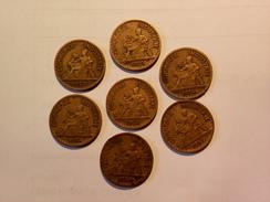 LOT DE 7 ANCIENNES MONNAIES FRANCAISES  50 Centimes CDC 1922 à 1928 - France