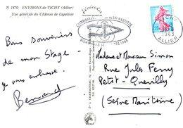 FRANCE. Flamme De 1963 Sur Carte Postale. Championnat De Ski Nautique.