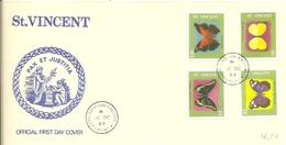 FDC  ST.VINCENT 1969 - Vlinders