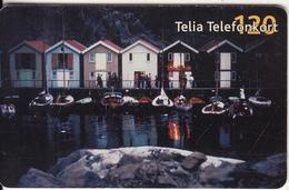SWEDEN(chip) - Boat-houses, 09/02, Used - Sweden