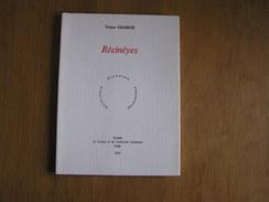 RECINEYES Victor George Bois Borsu 600 Exemplaires Régionalisme Langue Littérature Wallonne Dialecte Liège Patois Wallon - Culture