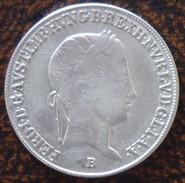 (J) HUNGARY: Silver 20 Krajczar 1843B AU (2547) SALE!!!! - Hungría
