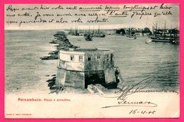 Pernambuco - Picao E Arrecifes - Voiliers - Paquebots - Animée - M. COSTA - 1905 - TIMBRES ET CACHETS BRÉSIL - OISE !!!! - Recife