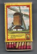 NL.-  Beek. Limburg. Molen Lucifers 92 - Gesloten Standerdmolen - St. Hubertusmolen - Luciferdoosje - Matchbox - 2 Scans - Luciferdozen