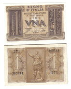 1 LIRA IMPERO 1939 FDS ASTA 1145 - [ 1] …-1946 : Kingdom