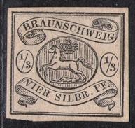 1/3 Silbergroschen Scharz Auf Weiss - Braunschweig Nr. 5 Ungebraucht O. G. - Kabinett - Braunschweig