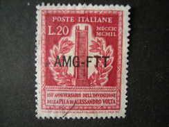 TRIESTE - AMGFTT. 1949, VOLTA, L. 20 , Usato, OCCASIONE - Gebraucht