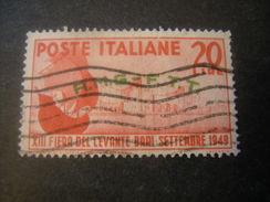 TRIESTE - AMGFTT. 1949, FIERA DEL LEVANTE, L. 20 Rosso, Usato, TTB - Gebraucht