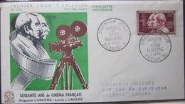 Enveloppe FDC 120 - 1955 - Besancon - Freres Lumiere - Cinema - YT 1033 - France