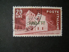 TRIESTE - AMGFTT. 1949, ELEZIONI TRIESTE, L. 20 Rosso Bruno, Usato, TTB - Gebraucht
