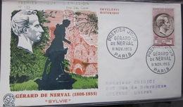Enveloppe FDC 133 - 1955 - Gérard De Nerval - YT 1043 - France