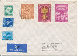 India Air Mail Cover Sent To Denmark 14-1-1963