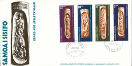 Samoa I Sisifo FDC 20-9-1971 Complete Set Of 4 Legends Of Old Samoa With Cachet (the Cover Is Bended In The Left Side) - Samoa