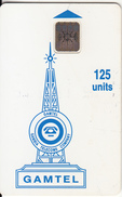 GAMBIA - Gamtel Logo 125 Units(reverse 5), Chip SC5, Red CN : C41043778, Used - Gambia