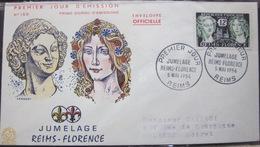 Enveloppe FDC 150 - 1956 - Reims Florence - YT 1061 - France
