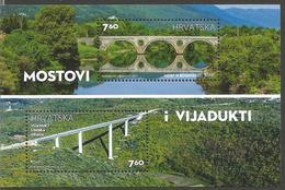 HR 2017-1280-1 BRIDGES, HRVATSKA CROATIA, S/S, MNH - Brücken