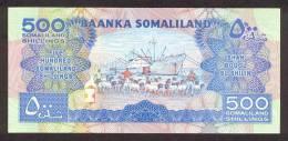SOMALILAND P.  6h 500 S 2011 UNC - Banconote